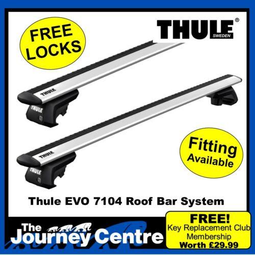 Roof Rack Bars Thule EVO WingBar Silver Estate 07-14 W204 MERCEDES C-Class
