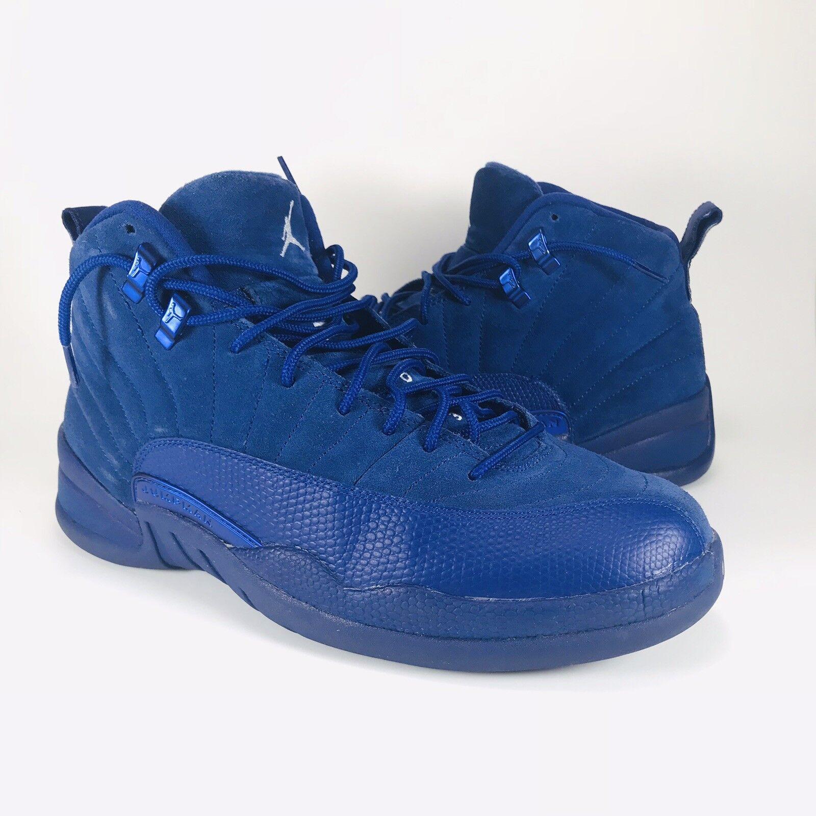 pretty nice caa61 558e3 Nike Air Jordan XII 12 Retro Deep Royal Blue Suede 130690-400 Sz 10 VNDS  Taxi