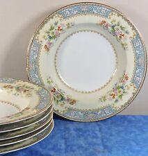 6 Noritake China CERULEAN Rimmed Soup Bowls- Occupied Japan #4726- EUC- HTF