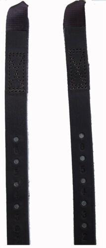 Kent & Masters Saddle Replacement Leather Girth Straps 1 Pair Black Or Brown DIY