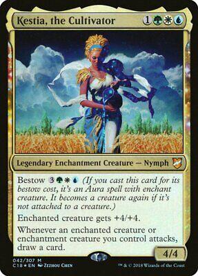 the Cultivator x 4 NM Commander 2018 MTG Rare Mythic Foil Kestia