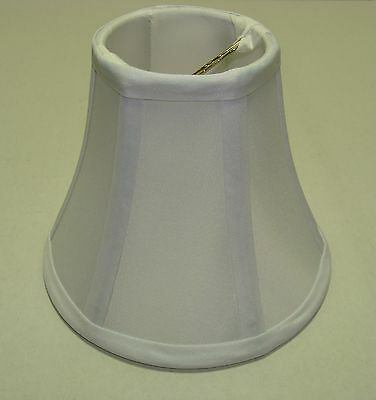 """Chandelier Shade Round Slight Bell Off-White 3"""" Top 6"""" Bottom 5"""" Height Clip On"""