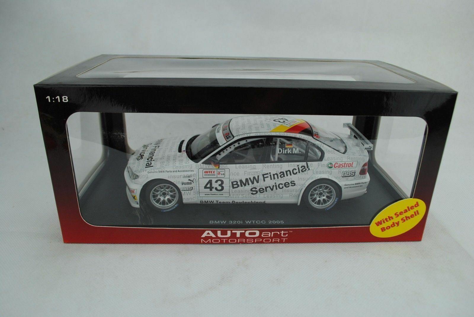 1 18 Autoart  80543 BMW 320i WTCC  2005 D. Muller  43 nouveau OVP  belle
