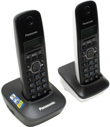 New Panasonic 220 Volt KX-TG1612 Cordless Phone 2-Handset 220V-240V Overseas Use