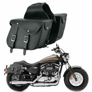 Moto-Touring-Cuero-Silla-Bolsa-Equipaje-Alforja-Bolsa-de-herramientas-laterales-Impermeable