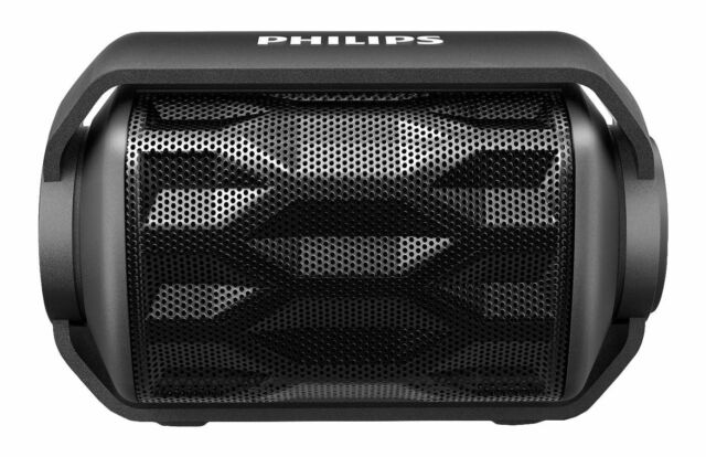 Philips BT2200B/27 Shoqbox Mini Rugged Wireless Waterproof Bluetooth Speaker