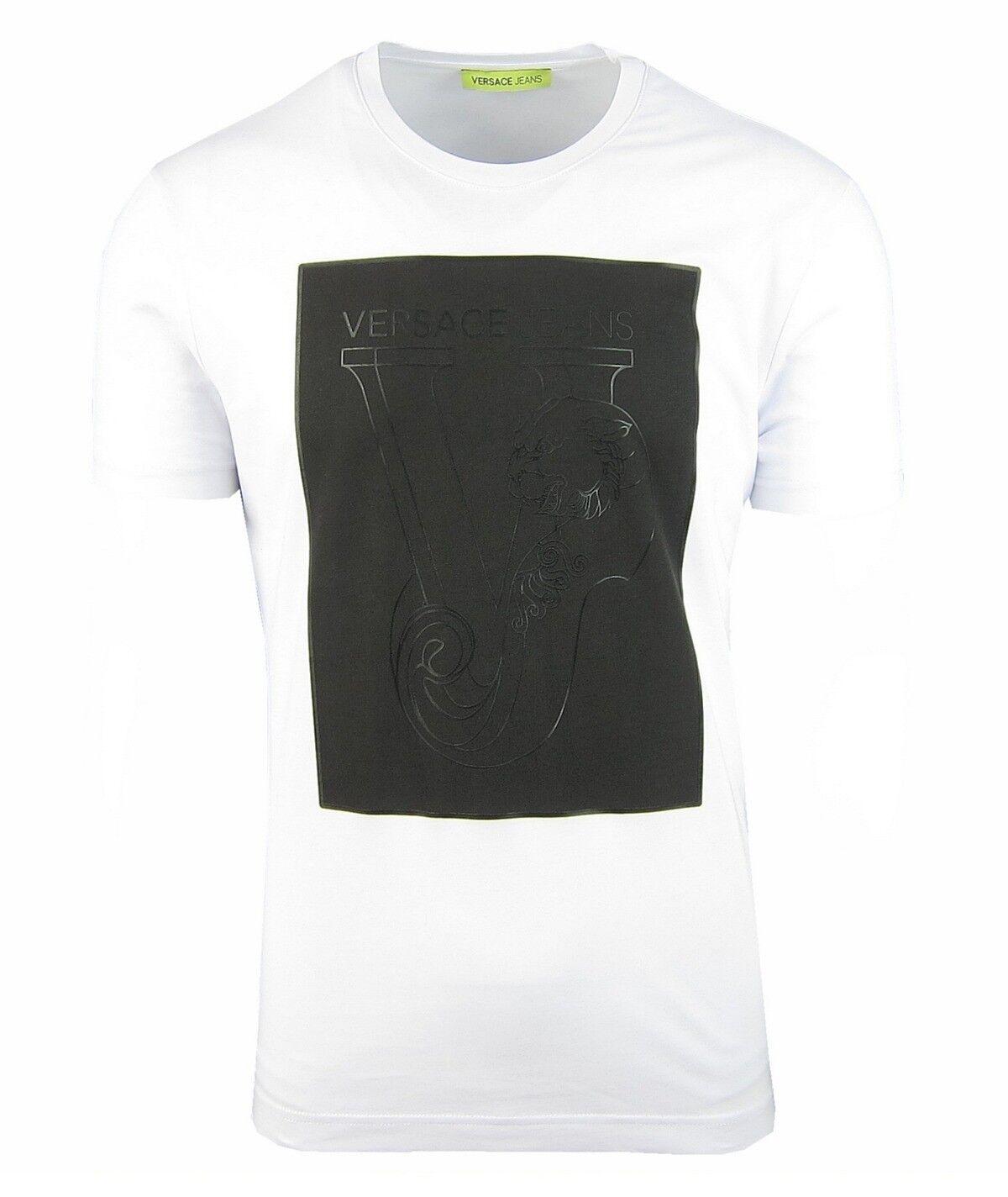 VERSACE JEANS B3GQB798 Herren Men T-Shirt Kurzarm Kurzarm Kurzarm Weiß Weiß S,M.L,XL,XXL NEU | Erste Gruppe von Kunden  4a9d49