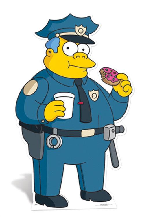 Polizei Kriegsherr Wiggum The Simpsons LifeGröße Papp Figur Aufsteller Standup