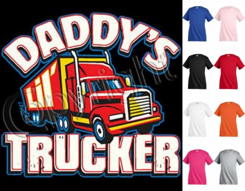 DADDY/'S TRUCKER T-shirt Children Kids Unisex Girl Boy Funny KP62