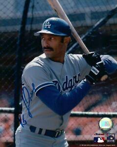 Ken-Kenny-Landreaux-Signed-8X10-Photo-Autograph-Dodgers-in-Cage-Left-Auto-w-COA