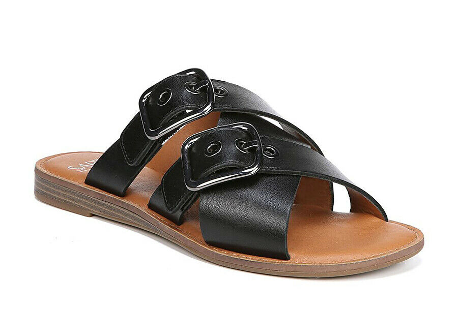d432f4f8d6d SARTO BY FRANCO SARTO Gaia Slide Leather Women Sandals Sz. 8 NEW ...
