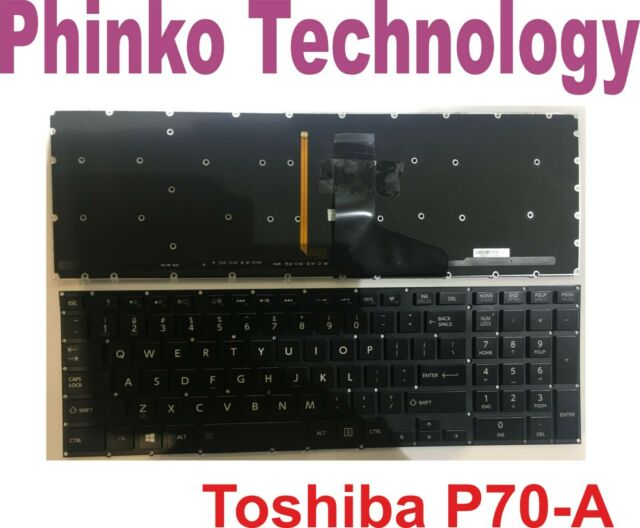 NEW Keyboard For Toshiba Satellite P70-A P70T-A P75-A P75T-A Backlit no Frame