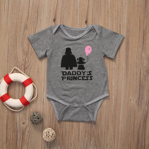 2019 Daddy/'s Princess Baby Girls Clothes Star Wars Romper Bodysuit Sunsuit 0-18M