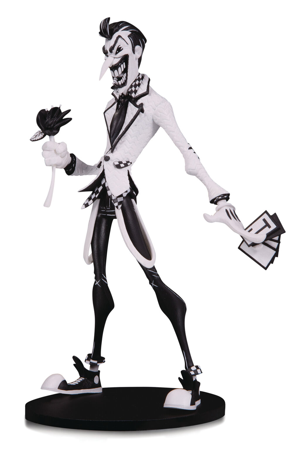 Dc Artistes Allée - le Joker par Nooligan - Noir et Blanc Figurine en Vinyle