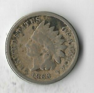 Rare-Antique-US-1863-Civil-War-Indian-Head-Penny-Collection-Cent-Coin-Lot-S35