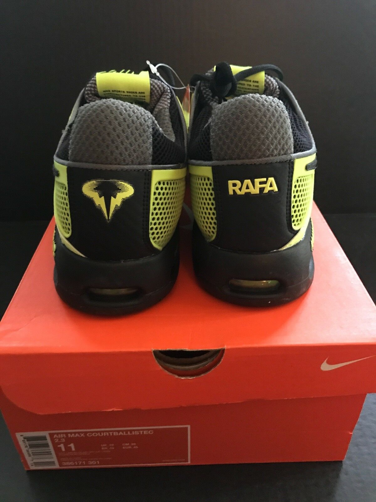 Rafa Nadal Limited Edition Edition Limited 2010   Open Tennis Shoe Size 11 7d2af1