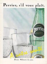 PERRIER - EAU - ANNONCE PUBLICITAIRE1991 ALLEMAGNE - ADVERT - COUPURE MAGAZINE