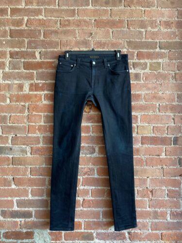 Nudie Jeans, Skinny Lin Sz 34 X 34 Italy Crotch Re