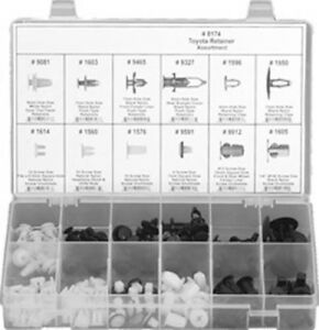 Clipsandfasteners Inc 146 Pc. Fender Door Hood Bumper Clip Retainer Assortment