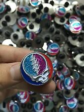 10 PACK GRATEFUL DEAD DEAD HEAD RELIX 10 DIFFERENT GLITTTER STEALIE PINS - 1 EA