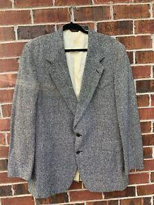 FARAH-Western-Wear-Country-Cowboy-Black-Sport-Coat-Tweed-Blazer-Suit-Jacket-46L