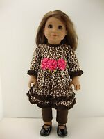2 Piece Brown Cheetah Patterned Outfit Designed For 18 Inch Dolls