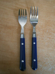 Image Is Loading Gibson Stainless Flatware Casual Living Blue Handle W