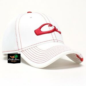 e570a7c8d7d DRAKE WATERFOWL GAME DAY FITTED HAT ARKANSAS RED WHITE XL 2XL FLEX ...