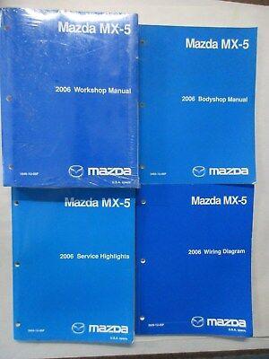 2006 Mazda Mx 5 Service Workshop Repair Wiring Diagrams Manual Set Ebay