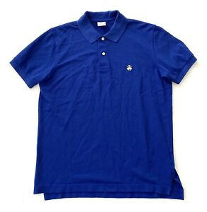 Brooks-Brothers-Blue-Slim-Fit-Performance-Golf-Polo-Shirt-Mens-Size-Medium-M