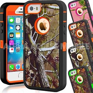 For Apple IPhone 5C 5 5S SE Camo Hybrid Shockproof Armor ...