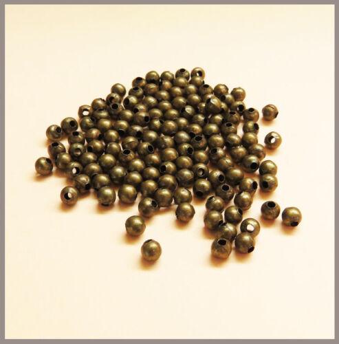 DIY und Nickelfrei antik-gold Bastelbedarf NEU kleine runde Metallperlen Blei