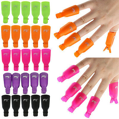 10x Nail Art Toenail Soak Off Clip Cap UV Gel Polish Clamp/Remover Wrap Tool