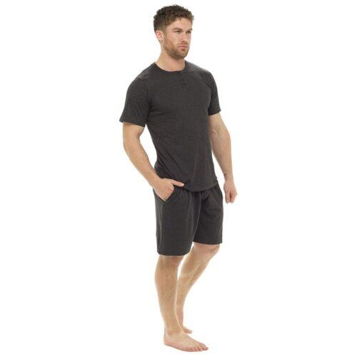 Da Uomo Pigiama 100/% Cotone Maniche Corte T-shirt E Pantaloni Corti M-XXL