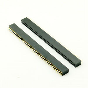 1x Strip Pins Double Female 40 Pins 2x40 Double Row Female Pin Header 2.54mm