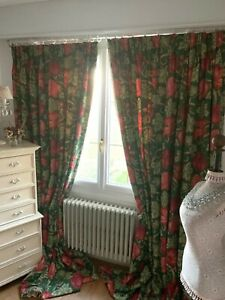 NINA-CAMPBELL-CURTAINS-034-VORONSTOV-034-Jacobean-ROSES-interlined-matching-single-AV