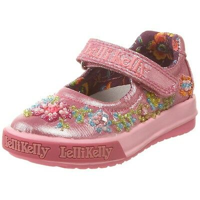 Lelli Kelly LK9439 Betty Baby Mary Jane Silver shoes NEW Beaded Sparkle Flower