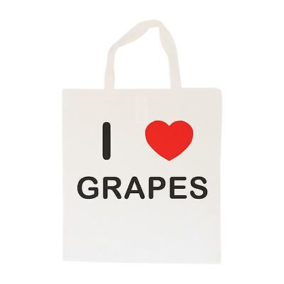 I Love Grapes - Cotton Bag | Size choice Tote, Shopper or Sling