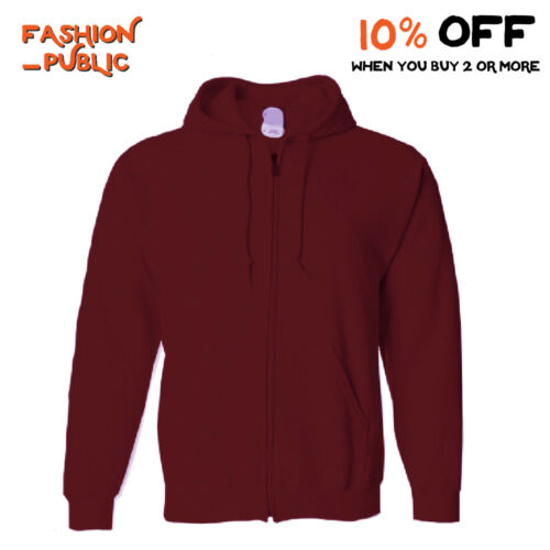 HI MEN WOMEN CASUAL HOODIE PULLOVER ZIPPER SWEATSHIRT FULL ZIP UP HOODED JACKET