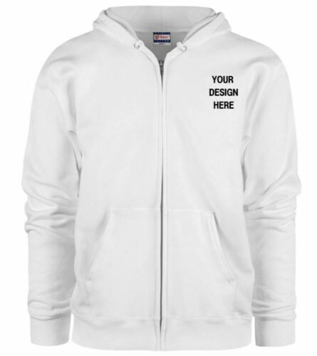 Custom Personalized  Zip Hoodie Sweatshirt-Your Own Text Different Colors