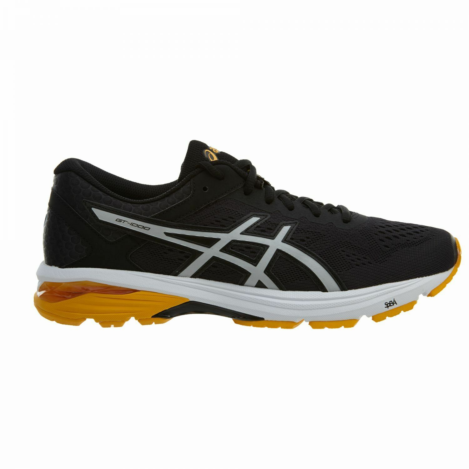 Asics GT-1000 6 Mens T7A4N-9093 Black Silver gold Fusion Running shoes Size 8.5