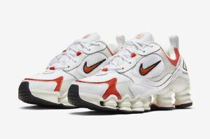 Details about Wmns Nike Shox TL Nova White Red Orange Womens Size 10 (Men's  8.5) AT8046 101