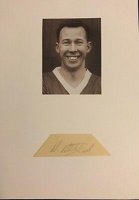 Signed Busby Babes Walter Whitehurst  Manchester United Football Autograph
