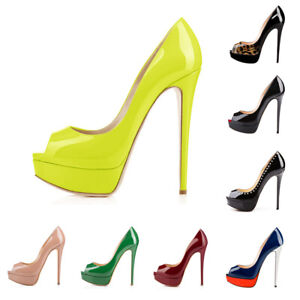 Onlymaker-Women-Sexy-High-Heel-Stiletto-Peep-Toe-Slip-On-Platform-Wedding-Pumps