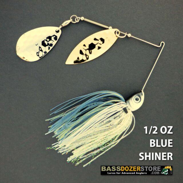 Bassdozer spinnerbaits 1/2 oz V. BLUE SHINER spinner bait bass fishing lures
