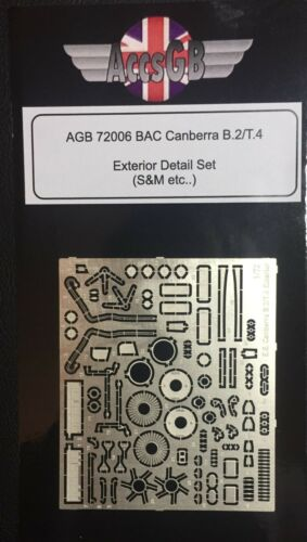-AGB-72006! 1//72 BAC Canberra Exterior B.2//T.4 S/&M, Airfix, Xtrakit..