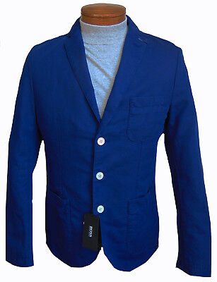 d7fcde3c9 Men's HUGO BOSS Royal Blue Linen Cotton Jacket Blazer 38R SLIM FIT NWT NEW  NiCe!