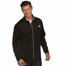 "NWT Anaheim Ducks Mens ""Leader"" Performance Full Zip Antigua Jacket Black Small"