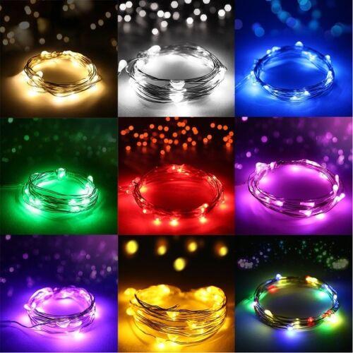 100 200 500 LED Solar Battery Powered Fairy String Lights Garden Party Deco XMAS