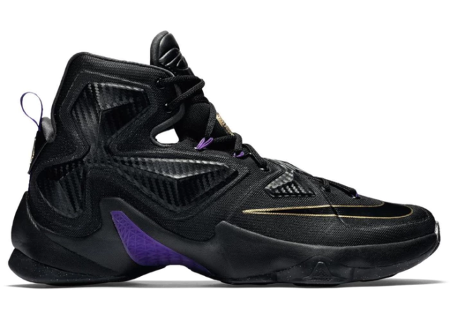 finest selection 5a626 3c68d Lebron XIII 13 Pot of Gold Mens Basketball Sneakers Black Gold Purple
